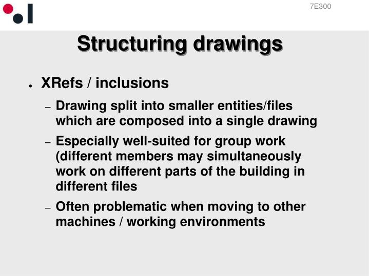 Structuring drawings