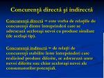 concuren direct i indirect