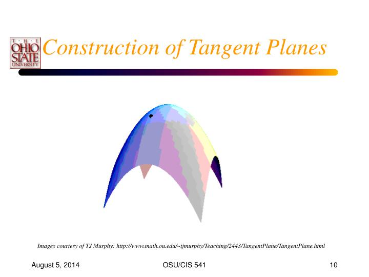 Construction of Tangent Planes