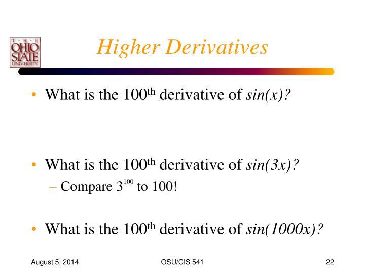 Higher Derivatives