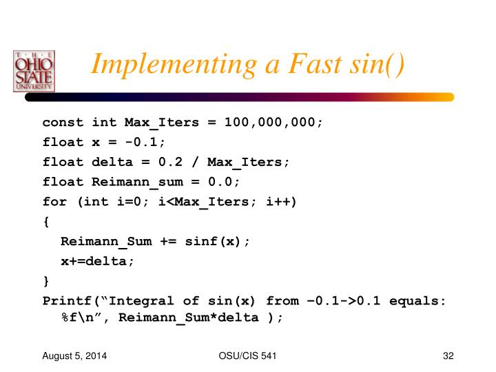 Implementing a Fast sin()