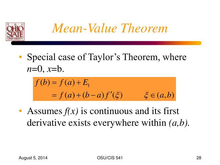 Mean-Value Theorem