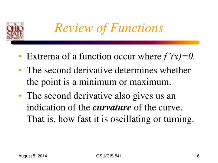 Review of Functions