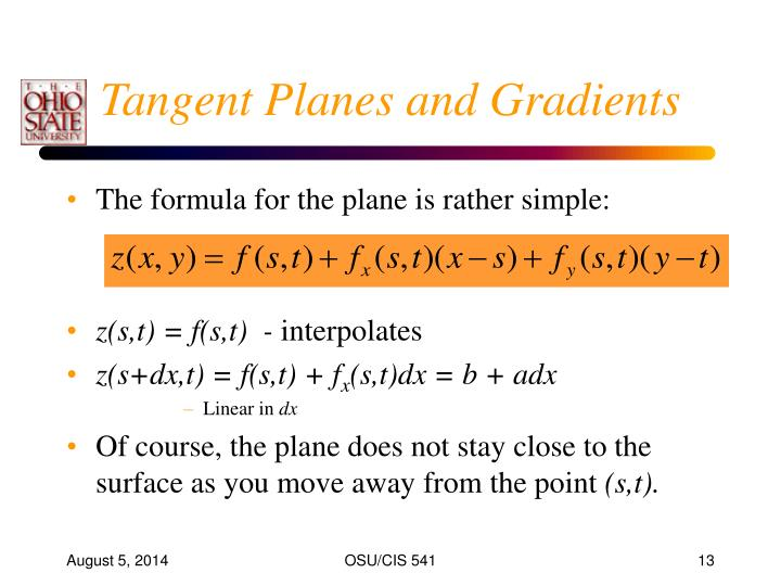 Tangent Planes and Gradients