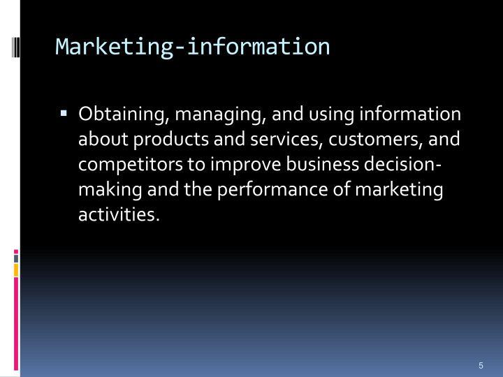 Marketing-information