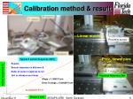 calibration method result