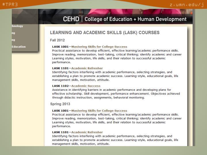 • Courses