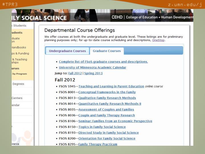 • Courses -