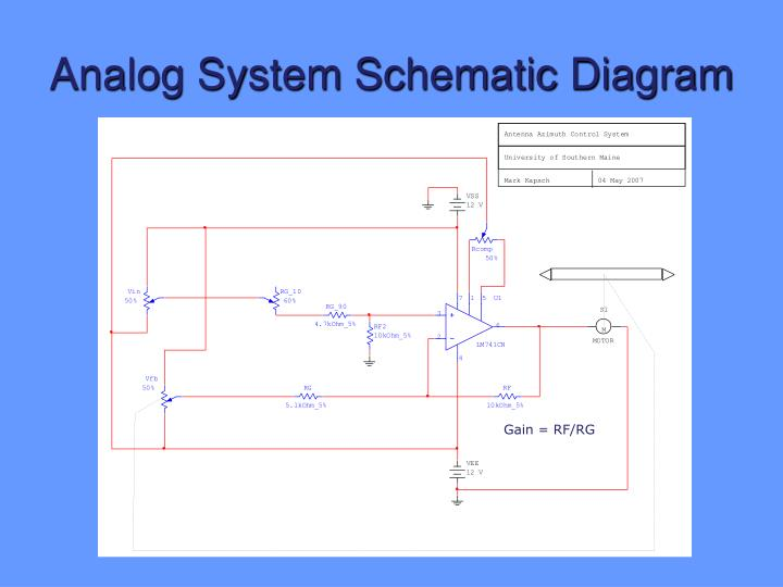 Analog System Schematic Diagram