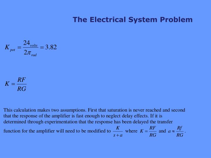 The Electrical System Problem