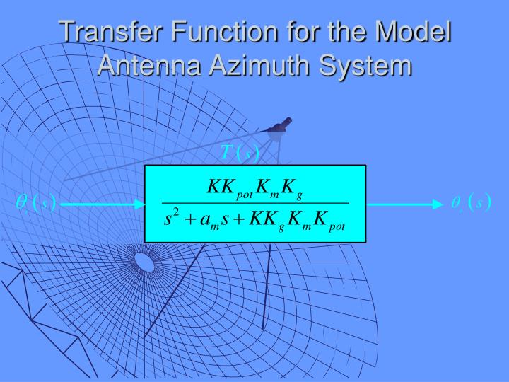 Transfer Function for the Model Antenna Azimuth System