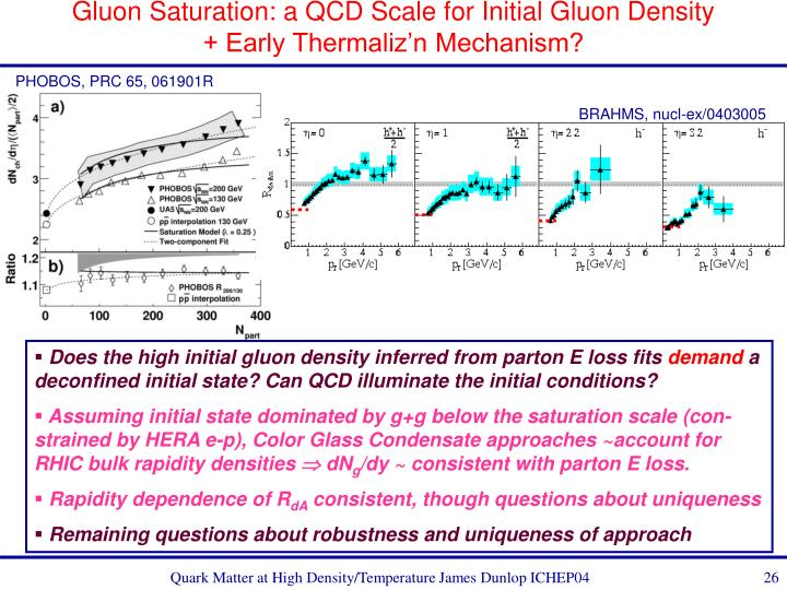 Gluon Saturation: a QCD Scale for Initial Gluon Density + Early Thermaliz'n Mechanism?