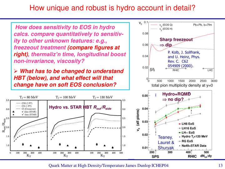 How unique and robust is hydro account in detail?
