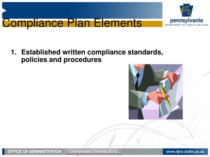 Compliance Plan Elements