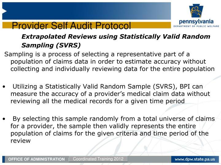 Extrapolated Reviews using Statistically Valid Random