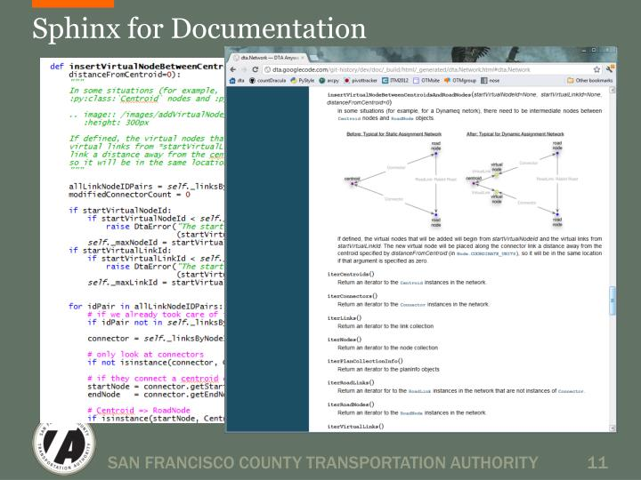 Sphinx for Documentation
