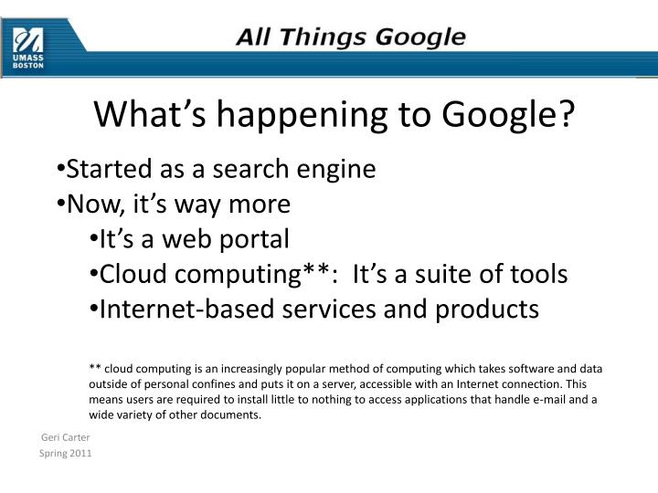What's happening to Google?