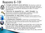 reasons 6 10