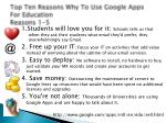 top ten reasons why to use google apps for education reasons 1 5