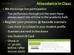 attendance in class