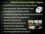 data structures algo topics