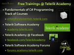 free trainings @ telerik academy