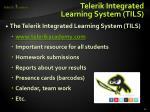 telerik integrated learning system tils