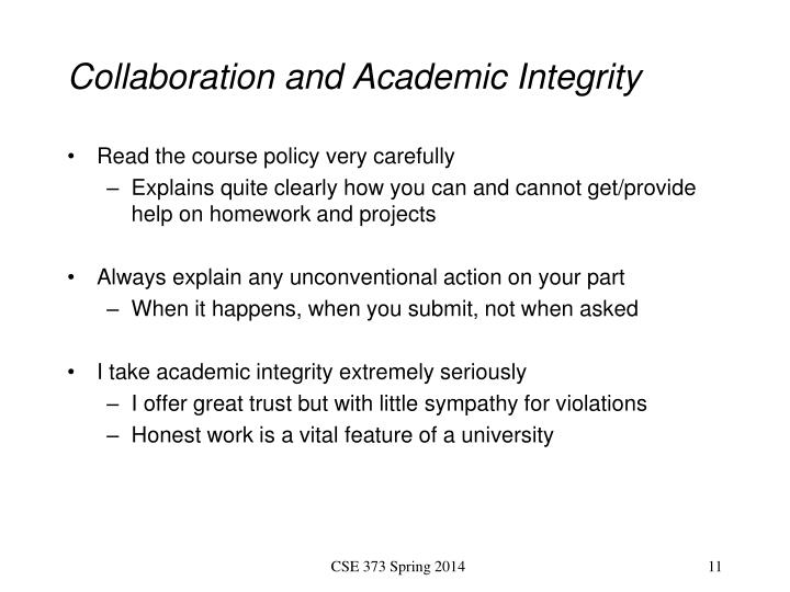 Collaboration and Academic Integrity