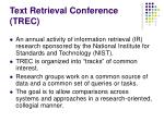 text retrieval conference trec