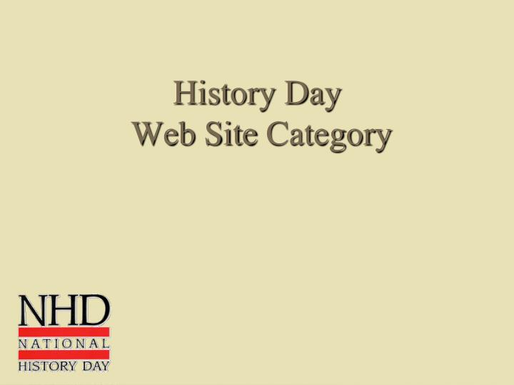 history day web site category n.