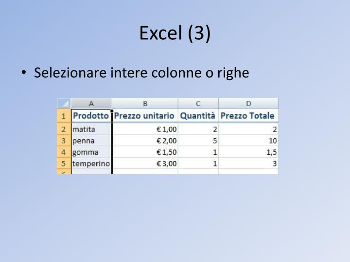 Excel (3)