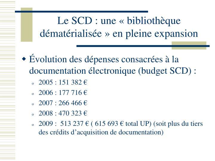 Le SCD : une «bibliothèque dématérialisée» en pleine expansion