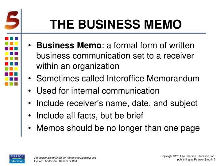 THE BUSINESS MEMO