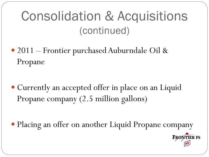 Consolidation & Acquisitions