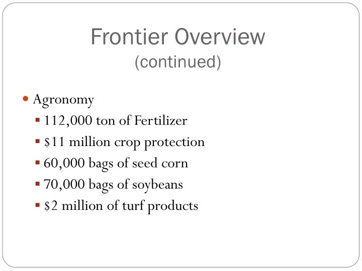 Frontier Overview