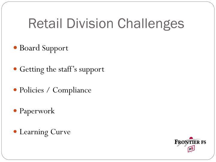 Retail Division Challenges