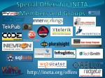 special offers for ineta members and groups