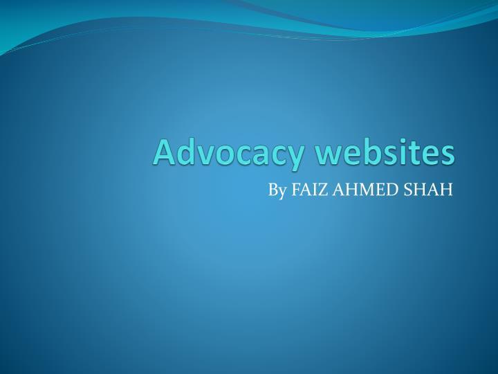 Advocacy websites