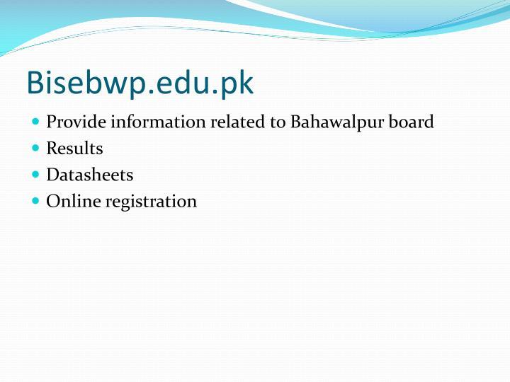 Bisebwp.edu.pk