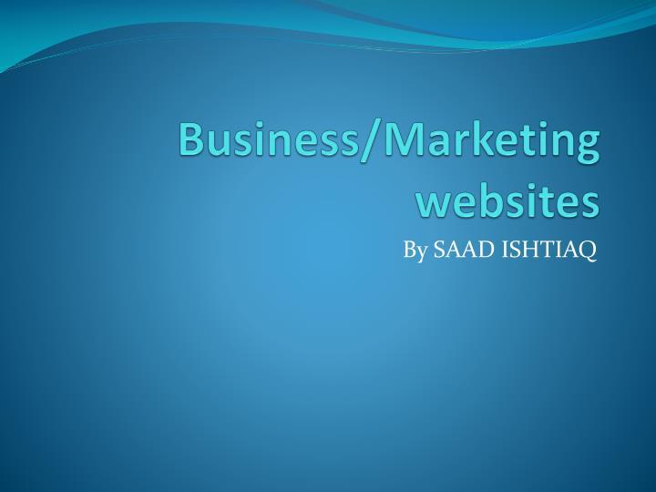 Business/Marketing websites