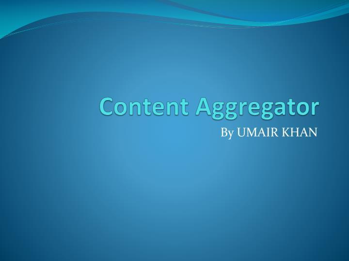 Content Aggregator