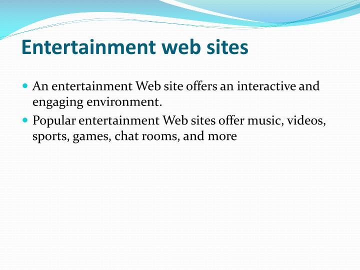 Entertainment web sites