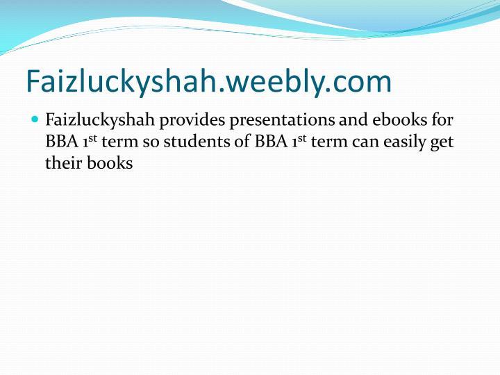 Faizluckyshah.weebly.com