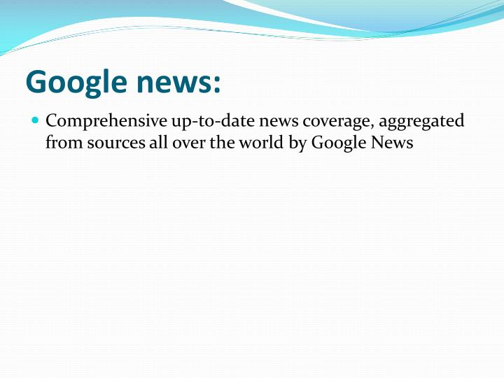 Google news: