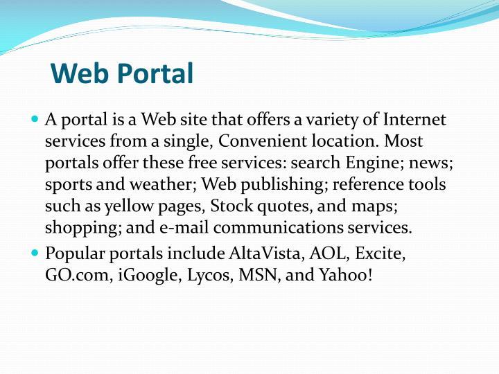 Web Portal