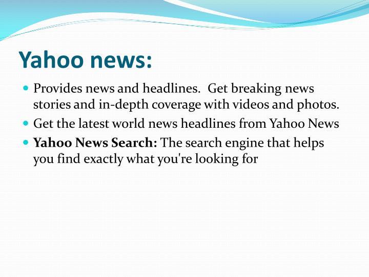Yahoo news:
