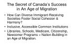 the secret of canada s success in an age of migration