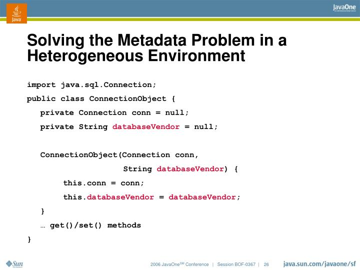 Solving the Metadata Problem in a