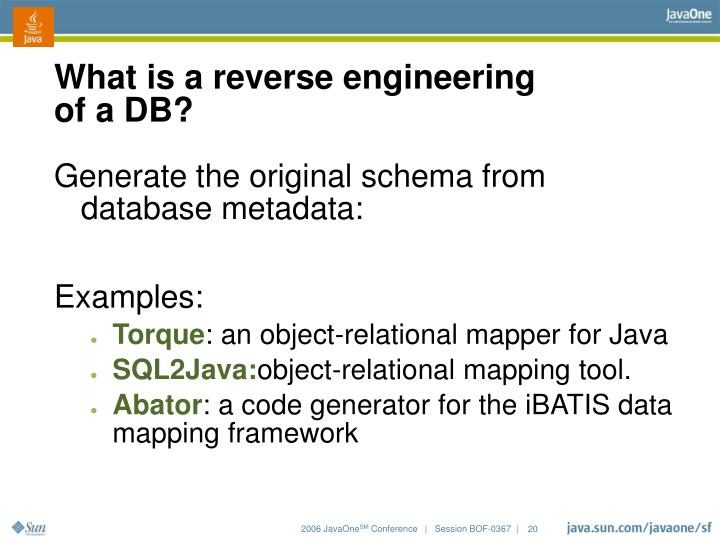 What is a reverse engineering