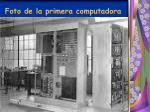 foto de la primera computadora